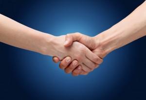 Handshake. Holding hands